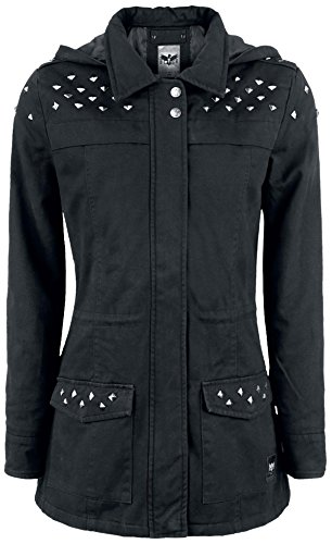 Black Premium by EMP Studded Ladies Parka Cappotto donna nero XS