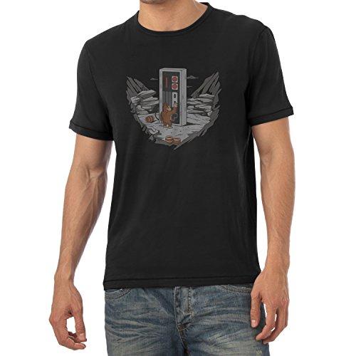 TEXLAB - Donkey Odyssey - Herren T-Shirt, Größe L, schwarz
