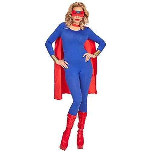 NET TOYS Superhelden Kostüm Umhang mit Maske Superheld Cape mit Augenmaske Superman Outfit Verkleidung