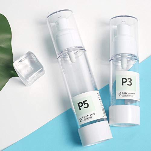 Reise-Unterflasche Vakuum-Reise-Unterflasche Plastikflasche Kosmetik-Sprühflasche Reisewerkzeug Lotionsflasche -30ml -