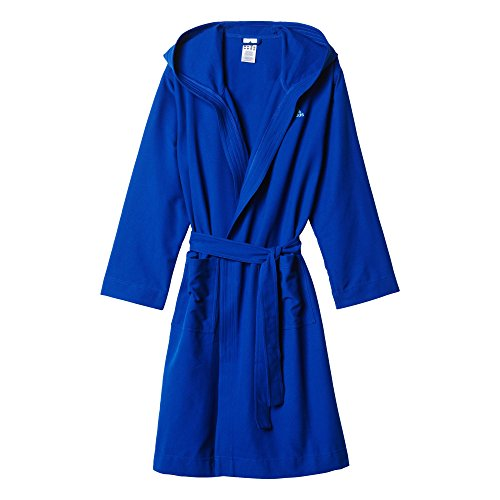 adidas Herren Bademantel MICRO BR M, Blau, L, 4055344199862
