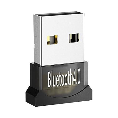 【Garantie à vie】Avantree USB Bluetooth 4.0 Adaptateur Dongle pour PC Windows 10, 8, 7, XP, Vista, XP 32/64 bits,Plug & Play ou Pilote IVT, Pour équipements Bluetooth, Casques, Enceintes, Souris, Clavier