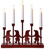 Star 166-01 Nisse Chandelier 5 Lumières 15,0 W E10 Rouge 32 x 29 x 6 cm