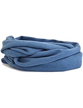 Kleinkinder und Baby - Loop zweifach gewickelt, uni jeansblau, Kids Schlauchschal, Schal Tuch für Mädchen und...