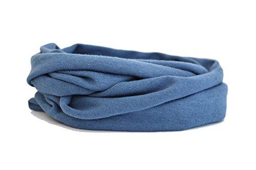 Andrea Traub - FASHION Kleinkinder und Baby - Loop zweifach gewickelt, uni jeansblau, Kids Schlauchschal, Schal Tuch für Mädchen und Jungen