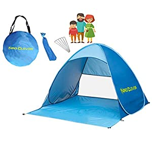 NRG Clever® OT2PB Automatic Pop up Beach Tent Best Outdoor Portable Cabana Family and Sun  sc 1 st  Outdoor Recreation : family tents ebay - memphite.com
