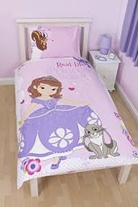 Disney Princess Sofia The First Amulette roses des enfants seule housse de couette ensemble de literie 135cm x 200cm dont 1 x 48cm x 74cm taie