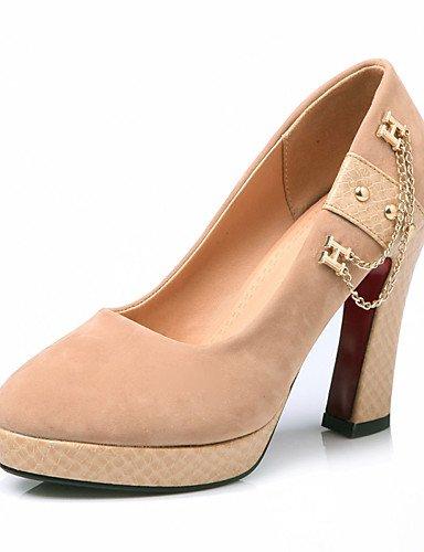 WSS 2016 Chaussures femmes été / automne talons / talons plate-forme extérieure / bureau&carrière / occasionnel talon aiguille ChainBlack / black-us5 / eu35 / uk3 / cn34