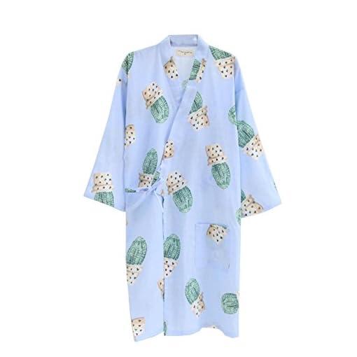 Fancy-Pumpkin-Abito-da-donna-giapponese-Abito-in-cotone-Kimono-Pigiama-Camicia-da-notte-Taglia-L