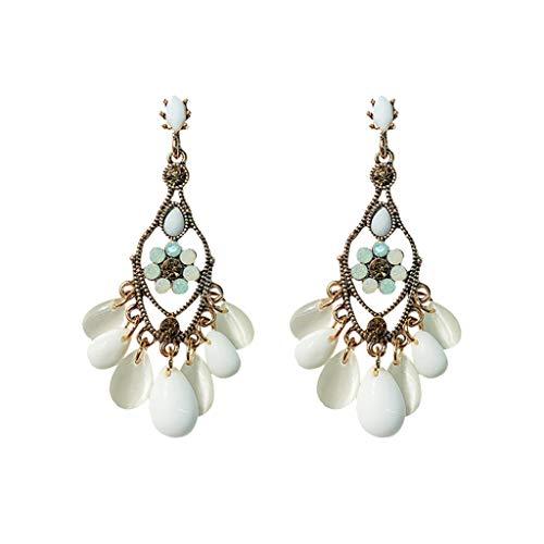 LHWY Damen Einfache Vintage Barock Perle Kristall Ohrringe Damenschmuck