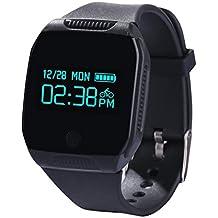 Willful Bluetooth Monitores de Actividad ,Inteligente Pulsera Deportes, Grande HD Fitness Tracker, Deporte Control de actividad (Ip67 Impermeable, Podómetro, Control Remoto de Cámara , Pantalla Táctil, Seguimiento de calorías, Sleep Monitor )para Android IOS teléfono inteligente Negro