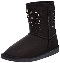 Carlton London Womens Jacinta Black Boots - 8 UK (CLL-2878)