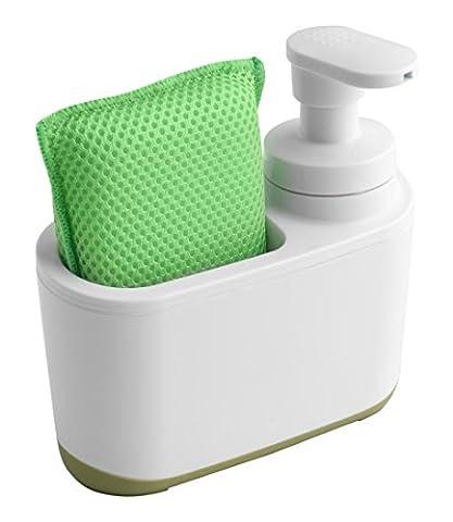 Addis Soap Dispenser, Green/White