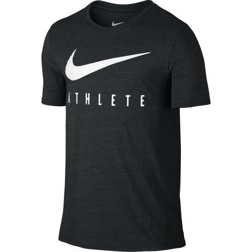 051 Tee (Nike DB MESH SWOOSH ATHLETE TEE - Kurzärmeln T-Shirt Grau - S - Herren)