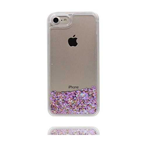 Hülle iPhone 7, [ Liquid Fließendes Glitzer Bling Bling ] iPhone 7 Handyhülle Cover (4.7 zoll), Floating sparkles, iPhone 7 Case Shell Anti-Beulen und Ring Ständer blau # 5