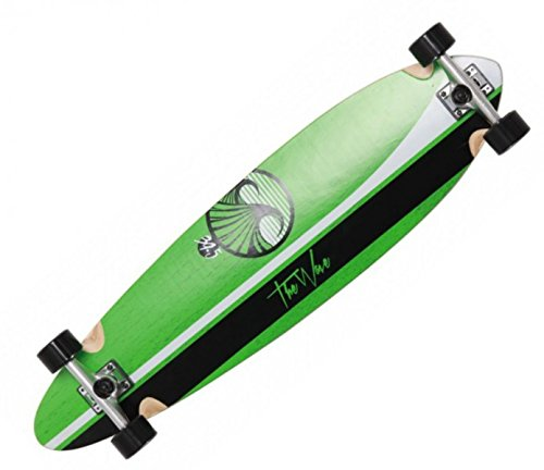 Wave Longboard Pintail Complete-Board Linear Green 39.5 with Koston ball bearings