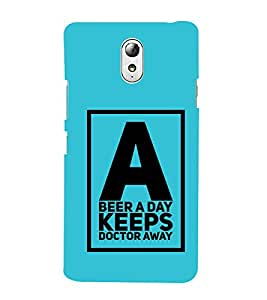 HiFi Designer Phone Back Case Cover Lenovo Vibe P1M :: Vibe P1m ( A Beer A Day Keeps Doctor Away )