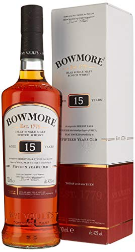 Bowmore Islay Single Malt Scotch Whisky 15 Jahre (1 x 0.7 l)