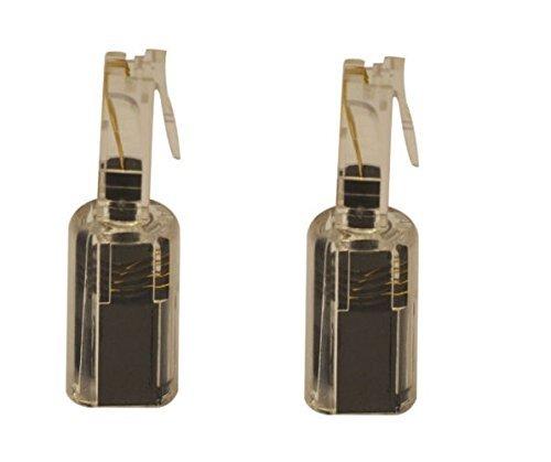 Network Trading® Black/Clear Telephone/Handset Coil Cord DETANGLER (2 Pack) Handset Cord Detangler