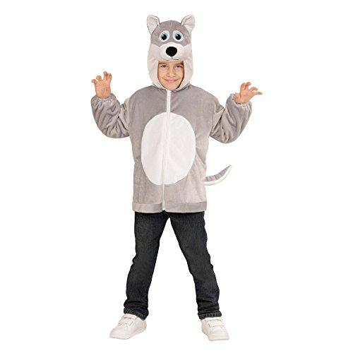 Widmann 97441 - Kinderkostüm Wolf aus Plüsch, Jacke mit Kapuze und Maske