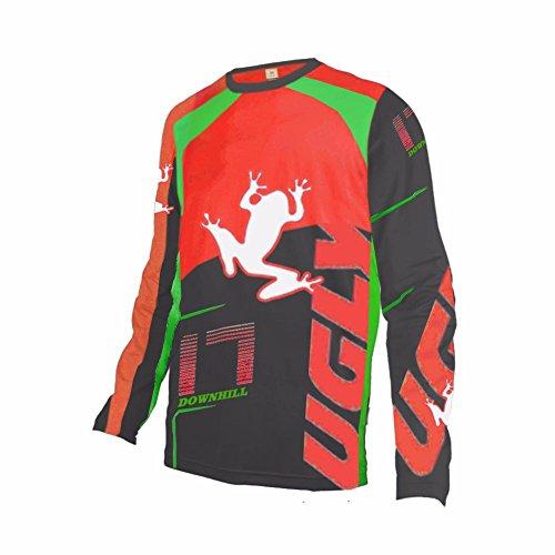 Uglyfrog 2018-2019 Neueste MTB Lange Ärmel Jersey Frühlingsart Motocross Mountain Bike Downhill Shirt Herren Sportbekleidung Kleidung -