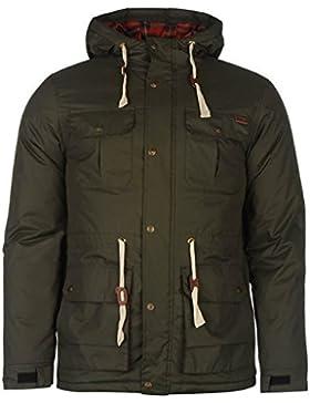 Lee Cooper acolchado Parka chaqueta para hombre verde chaquetas abrigos Outerwear, verde, small