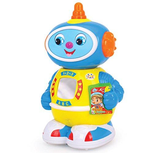 Robot con música luz y movimiento. Juguete de aprendizaje para la primera infancia