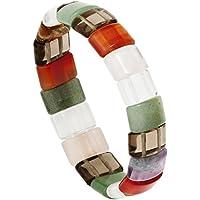 Dreamlife Armband Damen Gummi Tigerauge mit Rauchquarz Carneol 1 1 Kristall preisvergleich bei billige-tabletten.eu