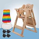 ZLMI Massivholz Babystuhl Portable Folding BB Hocker Mehrzweck-Essens Sitz 0-6 Jahre Alt,Beige,C