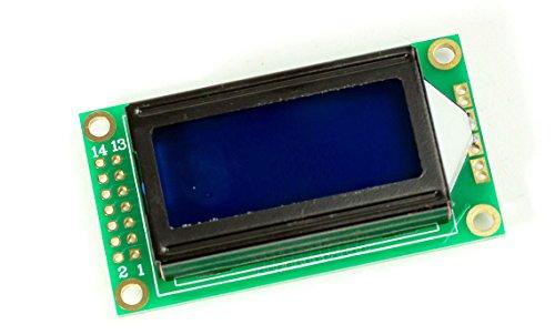 802 8x2Zeichen LCD Display Modul blaues BL HD44780-Komp für Arduino Raspberry Pi (Speicher-modul, 16-chip)