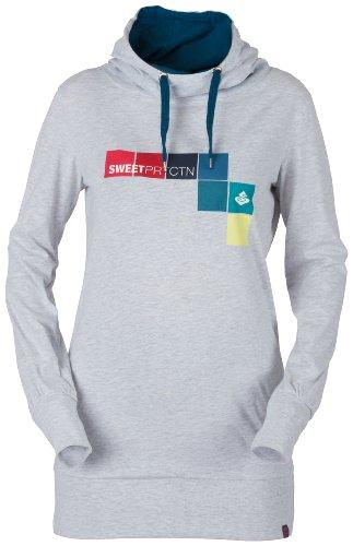 Sweet Protection Damen Street Wear Square Hoodie, Light Gray Melange, S, 9530043-131115