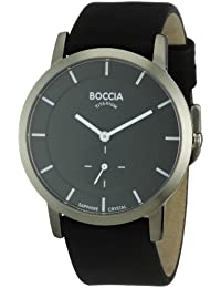 amazon co uk thin watches watches boccia men s titanium leather strap watch b3540 02