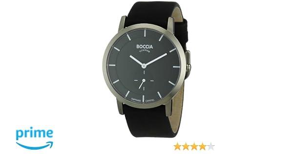 Boccia Montre 3540 Cuir 02 Quartz Analogique Bracelet Noir Homme PXOZiuk