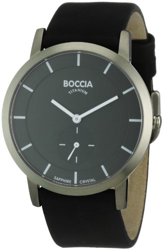 Boccia Herren-Armbanduhr Mit Lederarmband Trend 3540-02