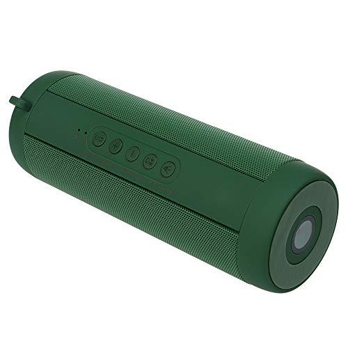 XLZHD Tragbarer Bluetooth-Lautsprecher, Bluetooth-HiFi-Klangqualität LED-Beleuchtung TF-Karte FM-Radio, IPX5-Wasserdichter intelligenter drahtloser Lautsprecher für iPhone, Android und mehr,Green