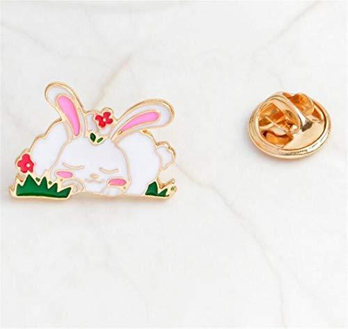 Kostüm Bunny Home - MEIDI Home Exquisite Cute Bunny Kostüm Zubehör Brosche Button Badge (bunt) Creative Lovely Abzeichen