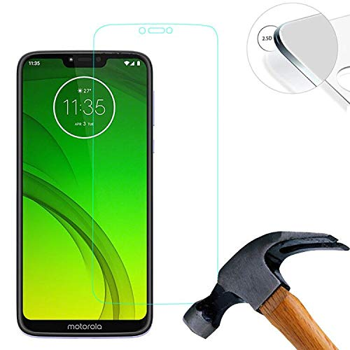 Lusee 2 X Pack Panzerglasfolie für Motorola Moto G7 Power 6.22 Zoll Tempered Glass Hartglas Schutzfolie Folie Displayschutz 9H (Nur den flachen Teil abdecken)