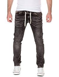 Yazubi Herren Sweathose in Jeansoptik Rick - Jogginghose in Jeans-Look