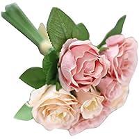 flores artificiales exterior Sanysis 1 ramo de flores de seda (7 cabezas)