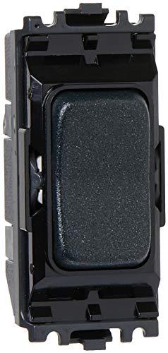 MK Aspect/Edge Grid k4899lbkb 20A Single Pole 2-Wege/Center Off Switch Modul-Glänzender Schwarz - Schwarz Grid Switch