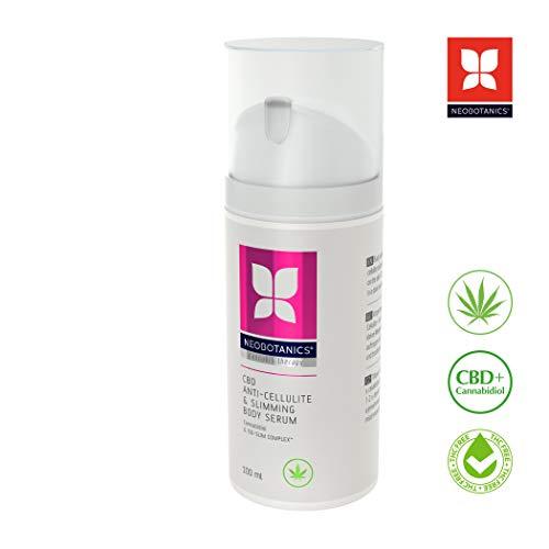 NEOBOTANICS® CBD Anti Cellulite & Slimming Sensitive Body Serum - Wunderwaffe mit Cannabidiol & Koffein - Sehr hohe Wirksamkeit - Strafft die Haut sichtbar. Stärkt das Bindegewebe. Weniger Fettzellen