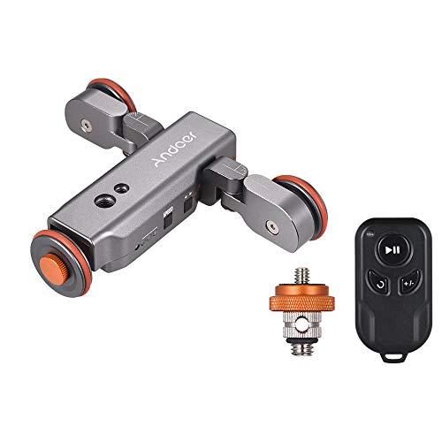 Andoer L4 PRO Video Kamera Slider Dolly Automatische mit Drahtlose Fernbedienung,1800mAh Akku 3 Geschwindigkeit einstellbar Mini Slider Skater für Canon Nikon DSLR-Kamera iOS Android Smartphone - 3 Slider-handy