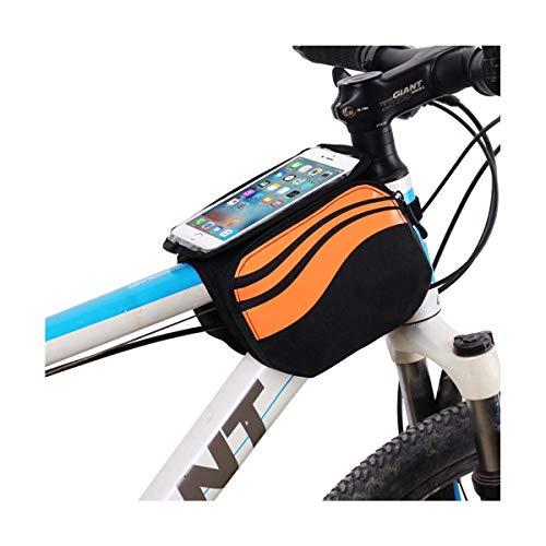 YIcabinet YIc Fahrradrahmen-Tasche, Lenkertasche, Fahrrad-Tasche, hohe Empfindlichkeit, wasserdichte Taschen, Unisex, Orange
