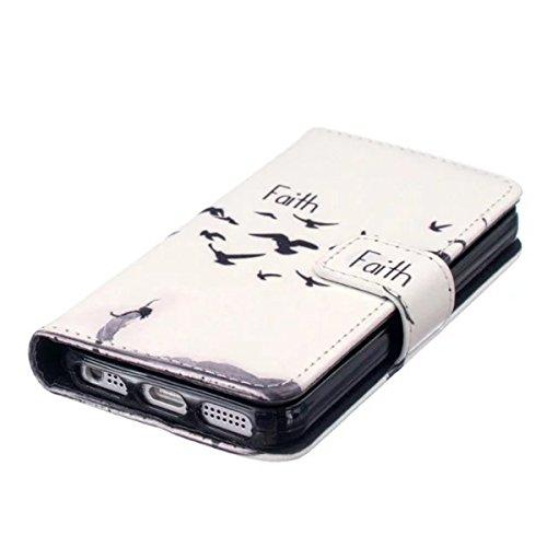 iPhone 5S Coque, iPhone SE Coque, Lifeturt [ Plume ] [Credit Card Slot Series] Housse Etui en cuir Avec Wallet Ultra Slim [Flip Housse étui Wallet Case Cover] pour Apple iPhone SE / iPhone 5/5s E02-Foi23