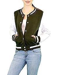 S&LU Super coole Mädchen/Teenie College Sweatjacke mit farblich abgesetzten Ärmeln in verschiedenen Größen und Farben