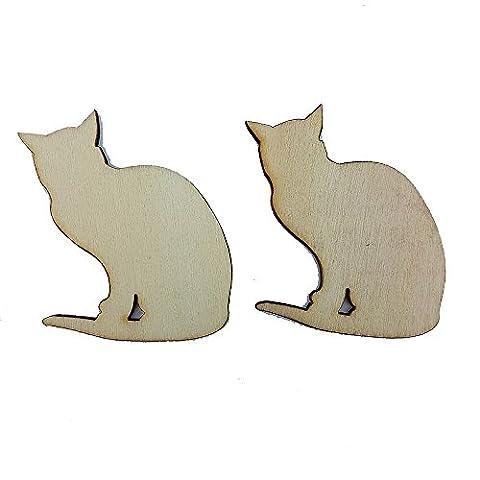 2x Chat Chien Chaton Chiot Die Cut Décorations Scrapbooking Artisanat de bois pièces par Accessoires grenier Cat 2