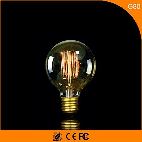 4-PACK, E27 Edison retrò seta G80 bulbo di tungsteno caldo