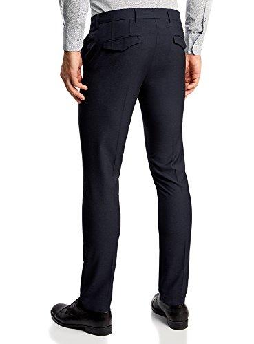 oodji Ultra Uomo Pantaloni Classici Aderenti Blu (7900O)