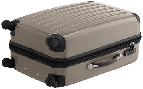 HAUPTSTADTKOFFER - Alex - 2er Koffer-Set Hartschale glänzend, TSA, 65 cm + 55 cm, 74 Liter + 42 Liter, Orange-Aubergine Rot-Champagner