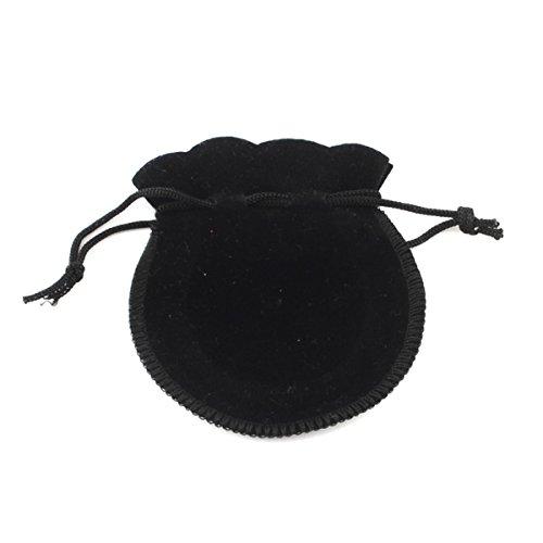 25sacchetto sacchetti regalo per gioielli, in velluto nera 9,5x 7,5cm